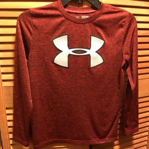 Under Armour Red & Black Long Sleeve Tee Shirt